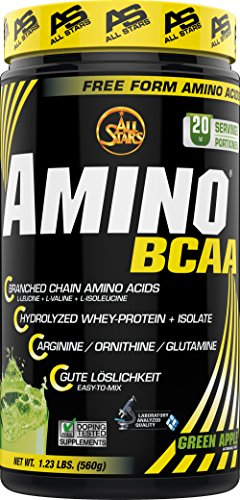 All Stars Hyper Amino BCAA Pulver, Green Apple, 1er Pack (1 x 560 g)