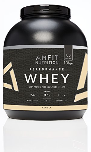 Amazon-Marke: Amfit Nutrition Performance Whey Protein Eiweißpulver (100% Molkenisolate) mit Vanillegeschmack, 66 Portionen, 1980 g