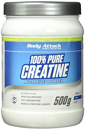 Body Attack 100% Pure Creatine Pulver, 1er Pack (1 x 500g)