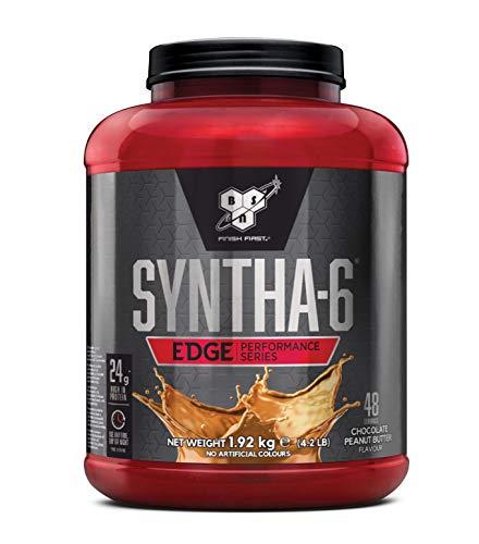 BSN Syntha 6 Edge Eiweißmischung Pulver (enthält Whey und Casein, Wenig Zucker Protein Shake von BSN) chocolate peanut butter, 48 Portionen, 1,92kg