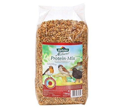 Dehner Natura Wildvogelfutter, Protein Futter-Mix, 500 g
