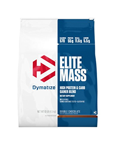 Dymatize Elite Mass, Chocolate, 1er Pack (1 x 4.54 kg)