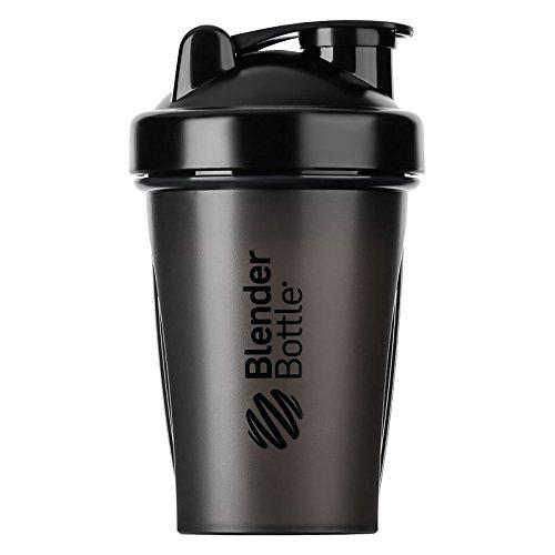 BlenderBottle Classic Shaker | Eiweiß Shaker | Diät Shaker | Protein Shaker mit Blenderball 590ml - Schwarz