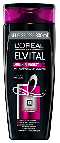 L'Oréal Paris Elvital Shampoo Arginin Resist, 3er Pack (3 x 300 ml)