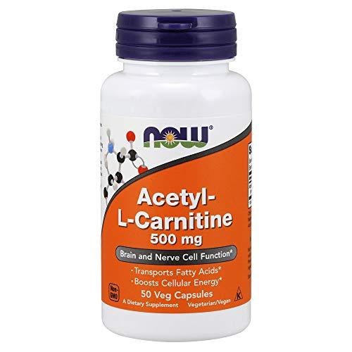 Now Foods Acetyl-L-Carnitin Energie für Nerven und Gehirn, 500mg, 50 vegetarische Kapseln