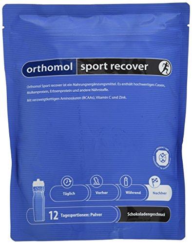 Orthomol Sport Recover – Proteinshake aus Casein & Molkeprotein Pulver – Proteinpulver mit BCAA – Nahrungsergänzungsmittel Regeneration & Muskelaufbau