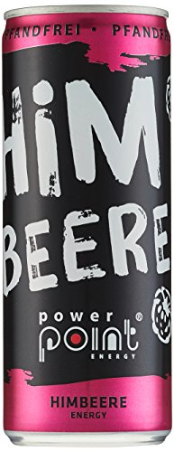 Power Point Energy Drink Himbeere, 24er Pack (24 x 250 ml)