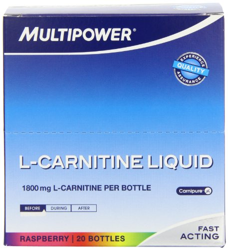 Multipower L-Carnitine Liquid, Himbeer, 20 Ampullen (1 x 500 ml)