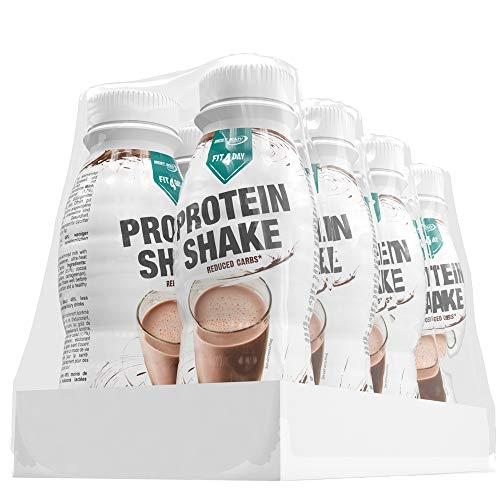 Best Body Nutrition Fit4Day - Protein Shake, Schoko, 8 x 330 ml Flasche
