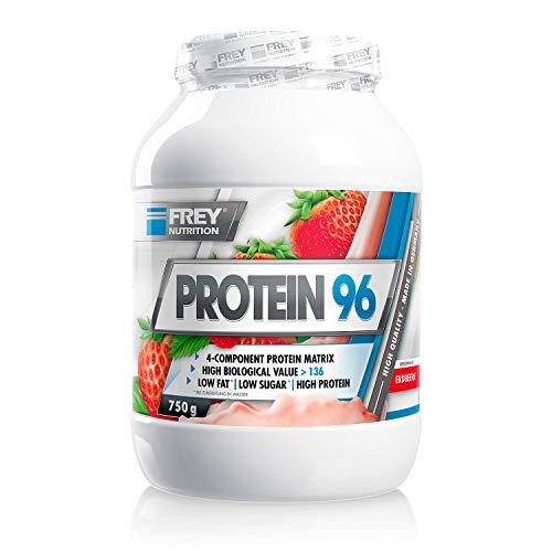 Frey Nutrition Protein 96 Erdbeer Dose, 1er Pack (1 x 750 g)