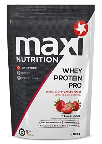 MaxiNutrition Whey Protein Pro Erdbeere – Eiweißpulver für den Muskelaufbau nach dem Training – 1 x 1020 g Packung Protein Shake mit Erdbeer Geschmack