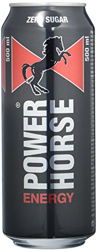 Power Horse Energy Drink Zero, 24er Pack, Einweg (24 x 500ml)