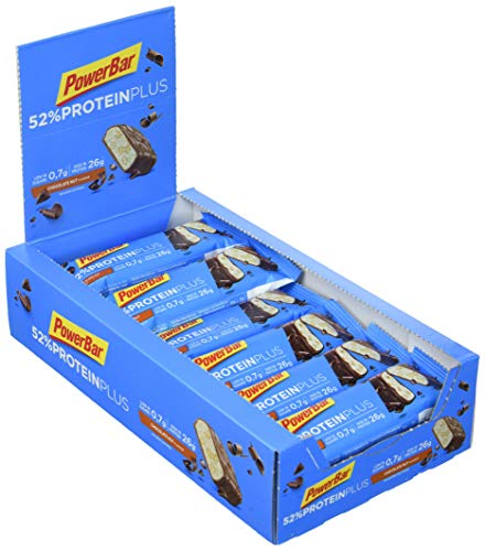 PowerBar 52% Riegel mit Whey und Sojaprotein – Low Sugar Eiweiß-Riegel, Chocolate Nut (20 x 50g)