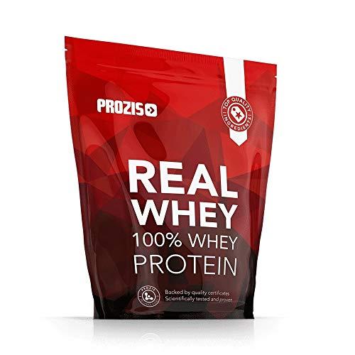 Prozis 100% reines Real Whey Protein Pulver 1kg – Leckerster Vanille- Geschmack