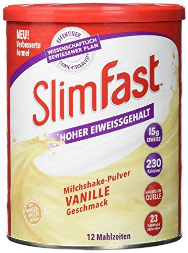 Slim Fast Drink Pulver Vanille, 438 g