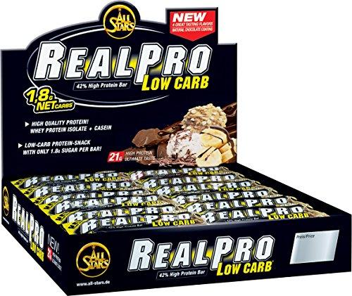 All Stars Realpro Low Sugar Bar, Chocolate-Banana, 24er Pack (24 x 50 g)