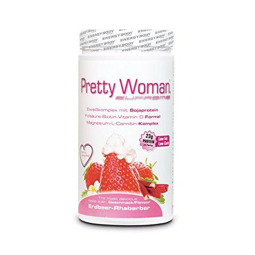 Energybody Pretty Woman Supreme Proteinshake Erdbeer-Rhabarber, 420 g