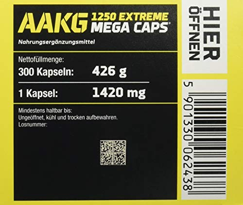 Olimp AAKG Extreme Mega Caps, 300 Kapseln, 1er Pack (1 x 426 g)