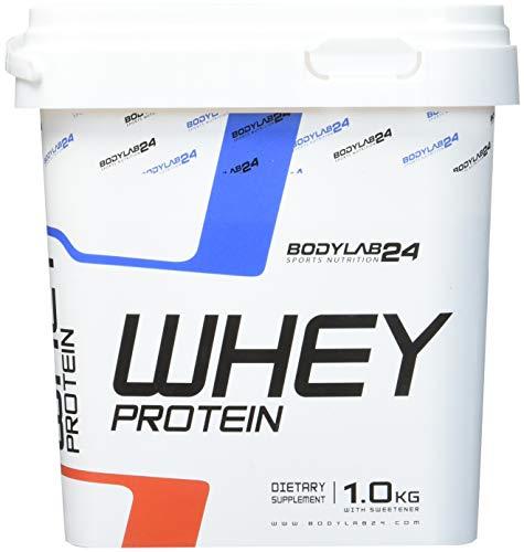 Bodylab24 Whey Protein Eiweißpulver, Geschmack: Erdbeere, hochwertiges Proteinpulver, Low Carb Eiweiß-Shake für Muskelaufbau und Fitness, 1000g