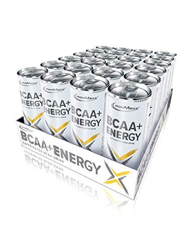 IronMaxx BCAA + Energy (Pfandfrei) Zitrone, 24er Pack (24 x 330 ml)