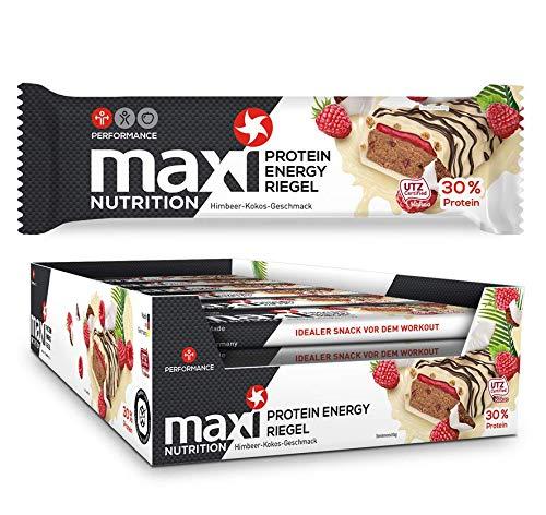 MaxiNutrition Proteinriegel Himbeere-Kokos – Eiweißriegel für den Muskelaufbau und einen Energiekick – 18 x 50 g Protein Bar