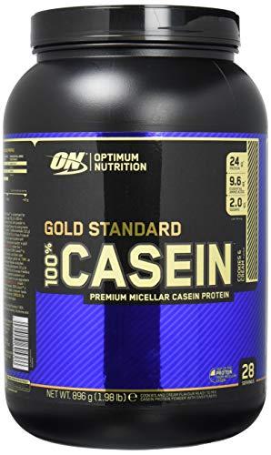 Optimum Nutrition Gold Standard Casein Eiweißpulver (mit Glutamin und Aminosäuren. Protein Shake von ON), Cookies und Cream Eiweiß, 28 Portionen, 0,9kg