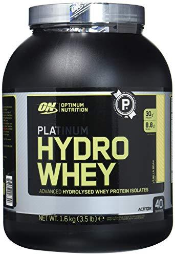 Optimum Nutrition Hydro Whey Eiweiß Isolat Pulver (mit essentiellen Aminosäuren, Glutamin und BCAA, Protein Shake von ON), Vanilla Eiweißpulver, 40 Portionen, 1,6kg