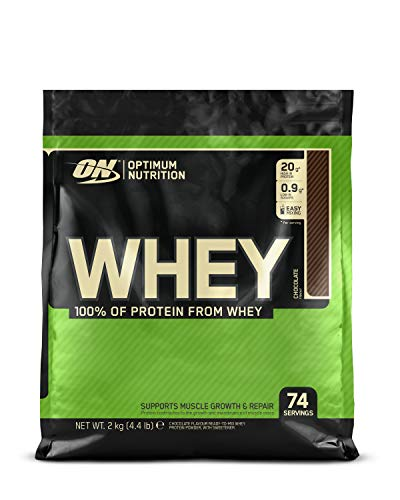 Optimum Nutrition ON Whey Eiweißpulver (Zuckerarmes Protein Shake von ON), Chocolate Eiweiß, 74 Portionen, 2kg