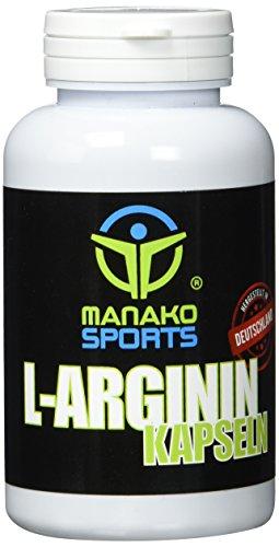 Manako sports L-Arginin Kapseln für Sportler, 120 Stück, Dose 84 g (1 x 120 Kapseln)
