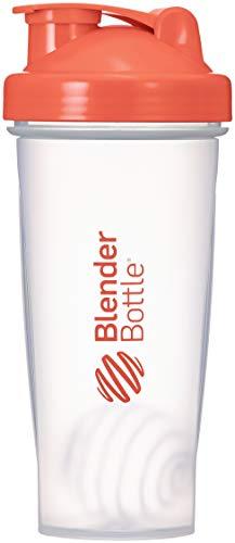 BlenderBottle Classic Shaker | Eiweiß Shaker | Diät Shaker | Protein Shaker mit Blenderball 820ml - Clear Coral